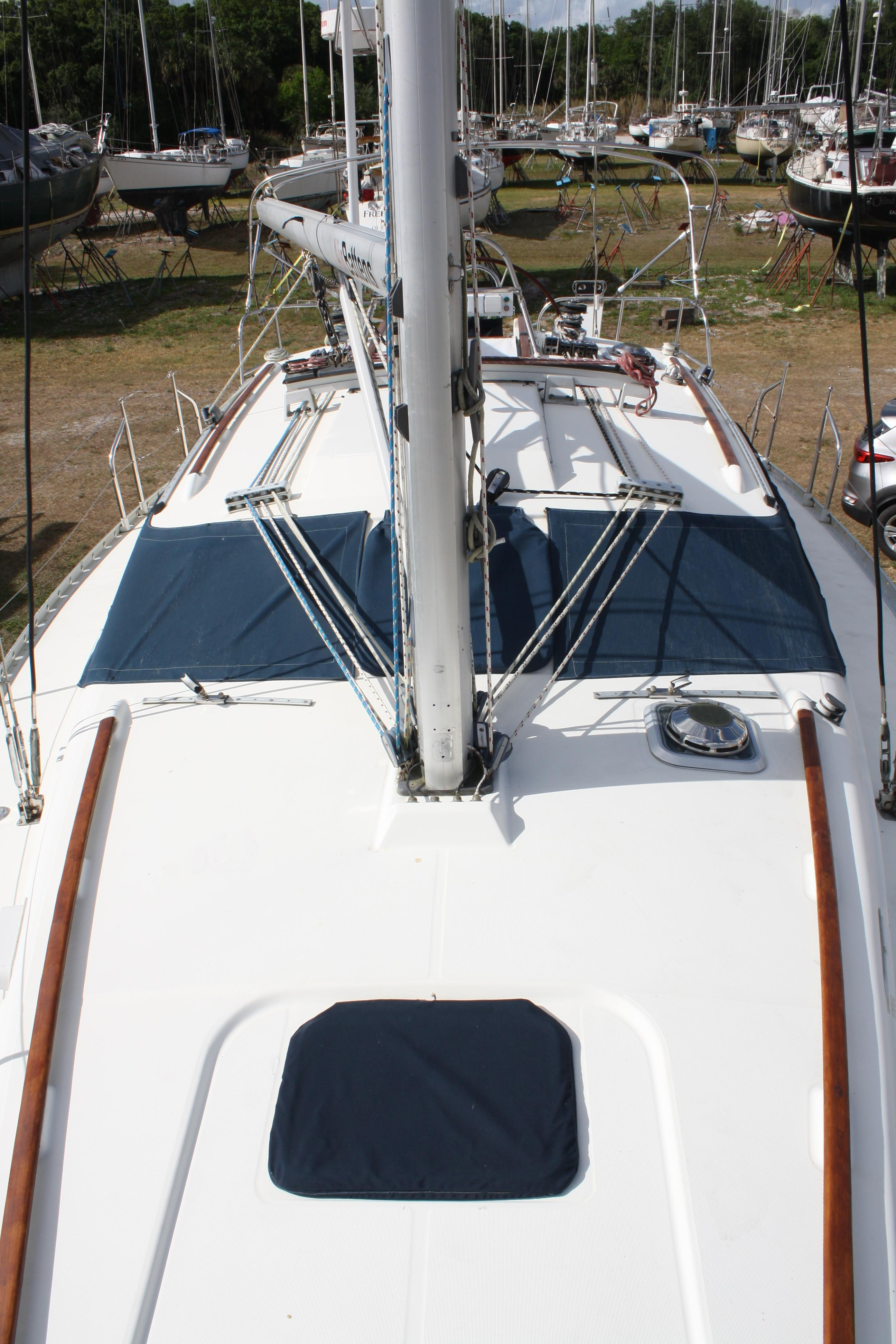 Looking aft you