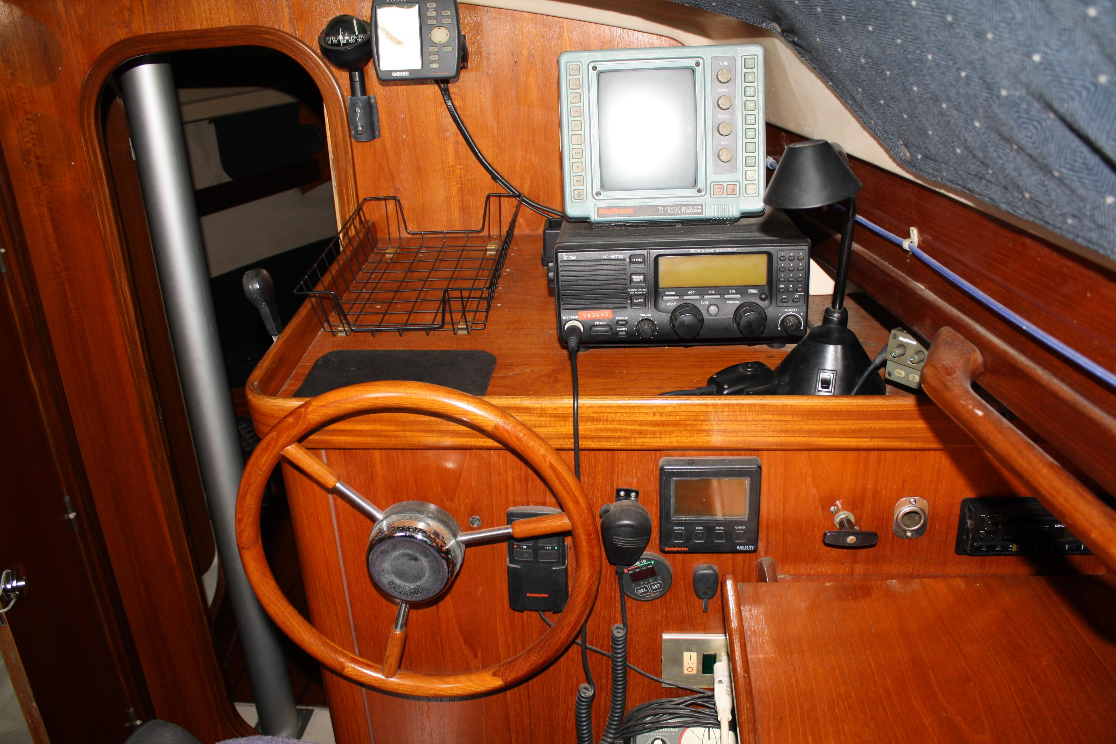 Everything you need within reach all while staying dry and comfortable in the wheel house.
