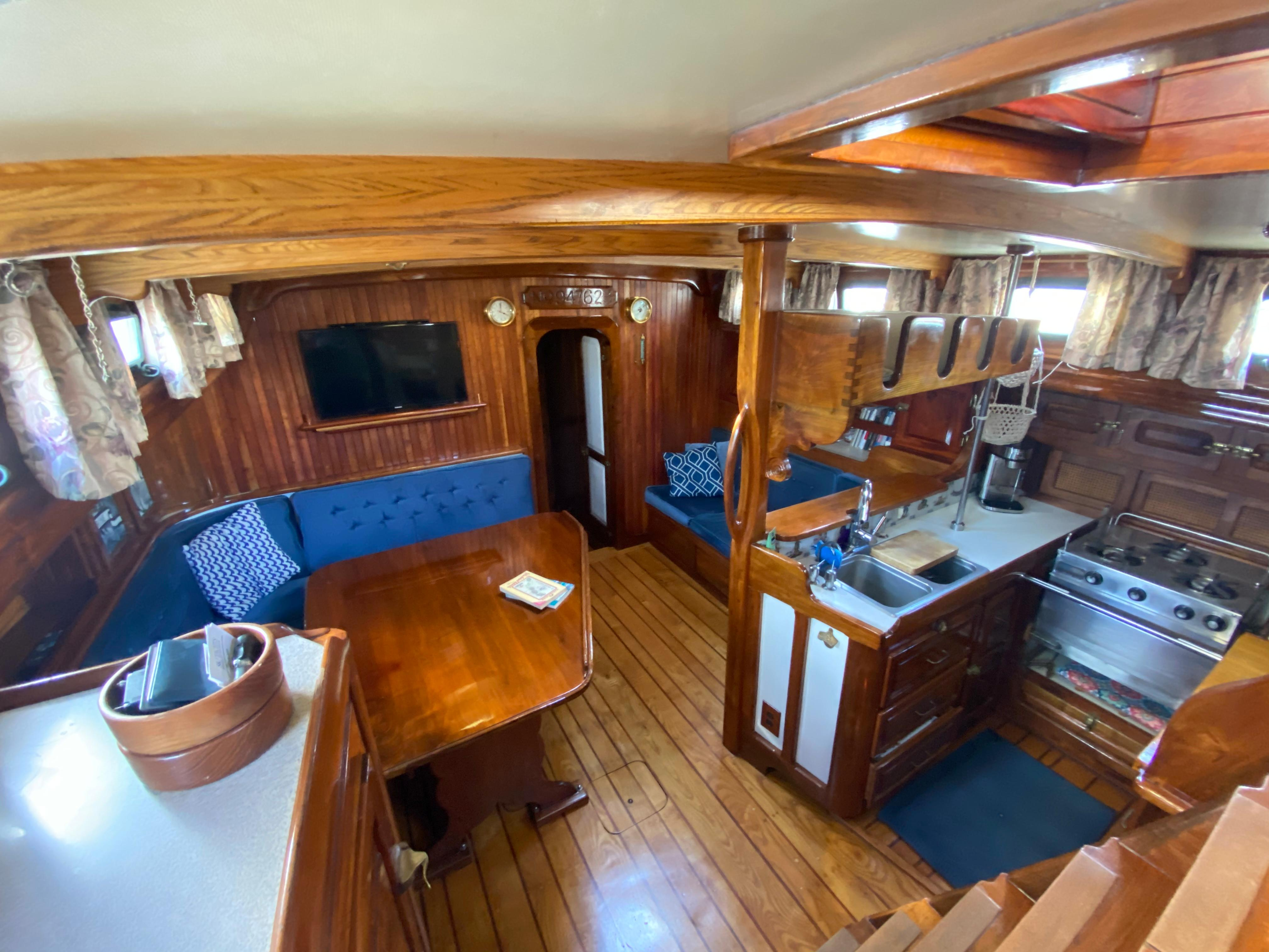 Looking Forward from Companionway Steps