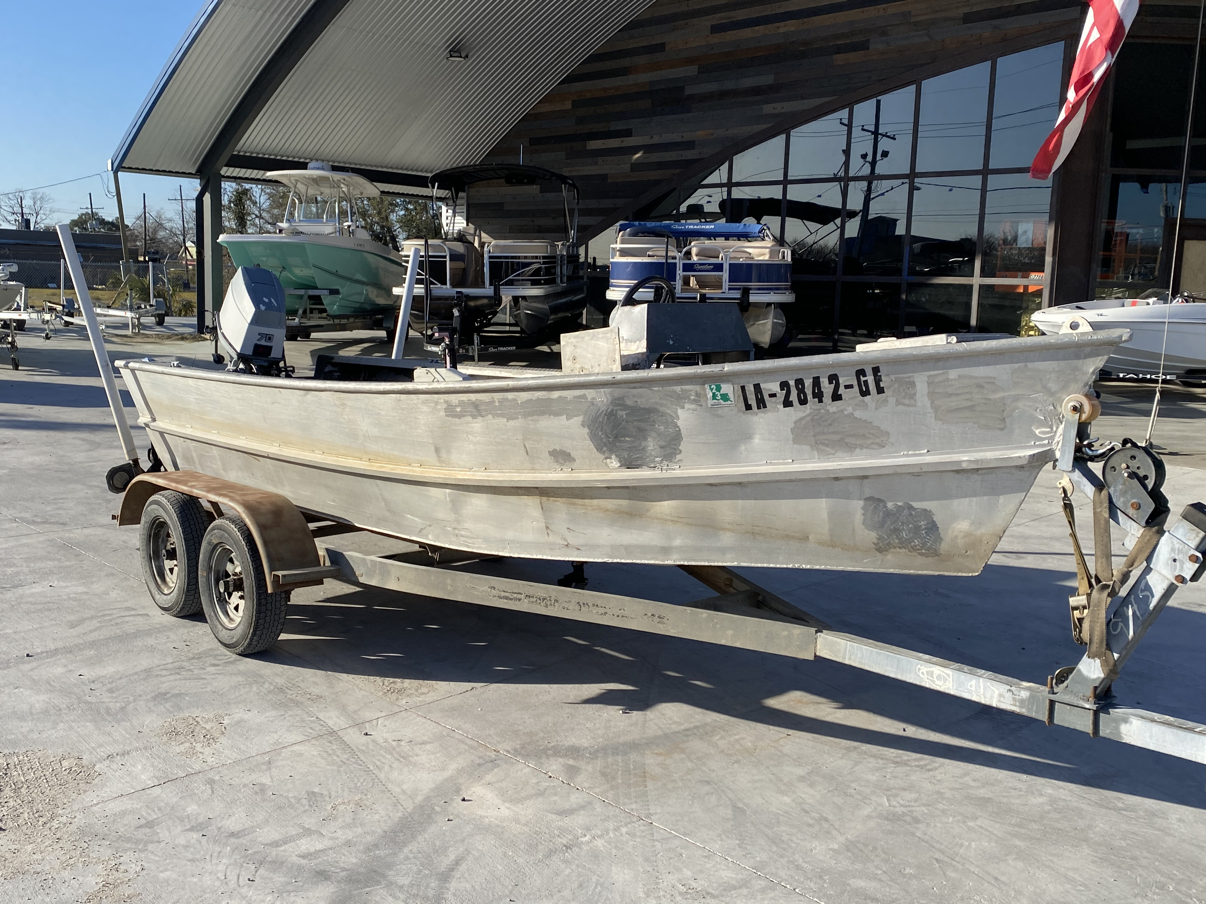 1993 Gravois boat for sale, model of the boat is 17 Skiff & Image # 2 of 8