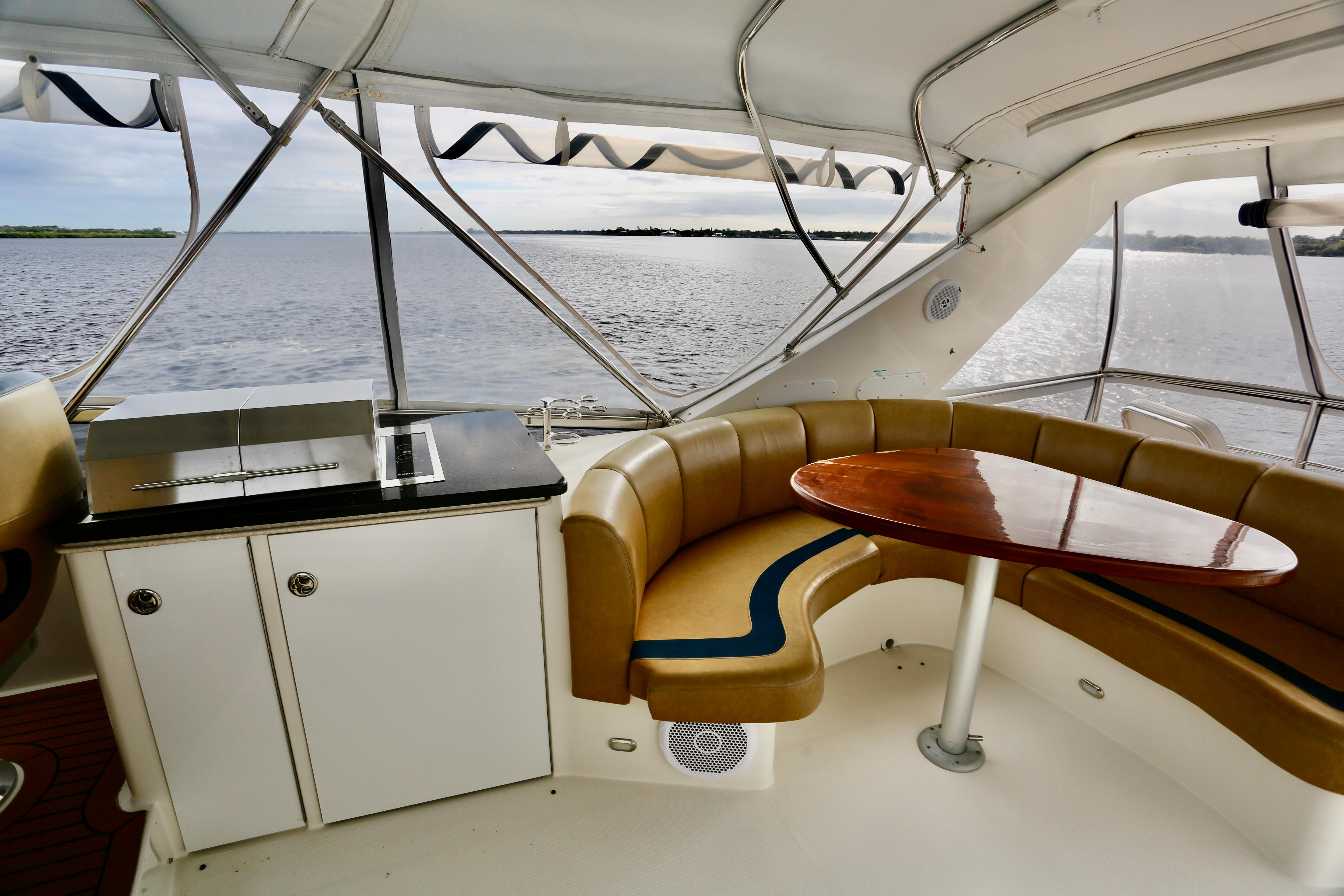 Flybridge Grill and Seating