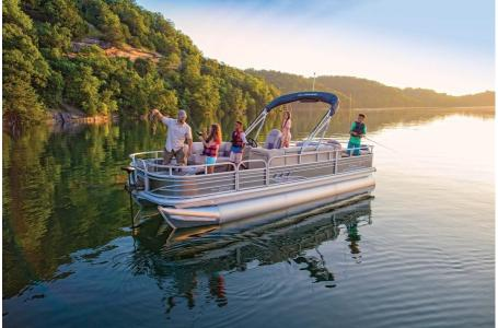 2020 Sun Tracker boat for sale, model of the boat is Signature Fishing Barge 22XP3 w/150L 4S & Image # 1 of 50