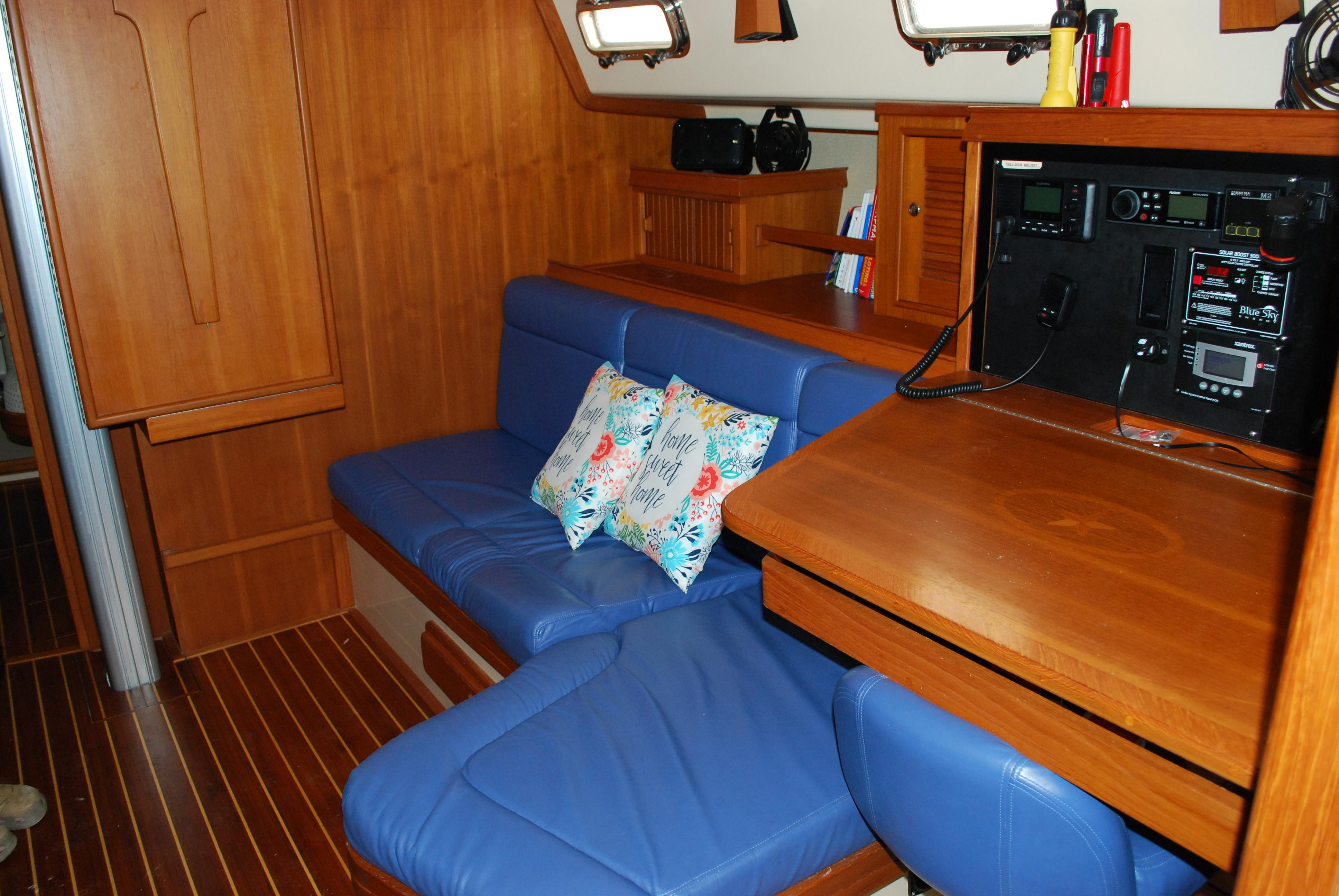 Port Settee and Chart Table