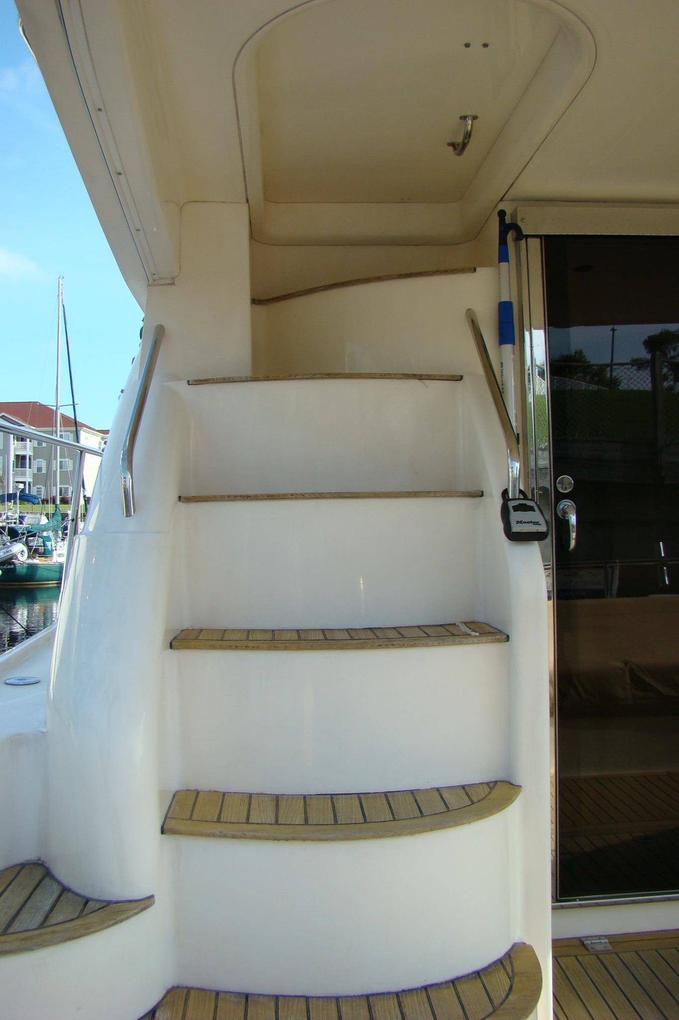 Viking Princess V50 - Steps to Flybridge
