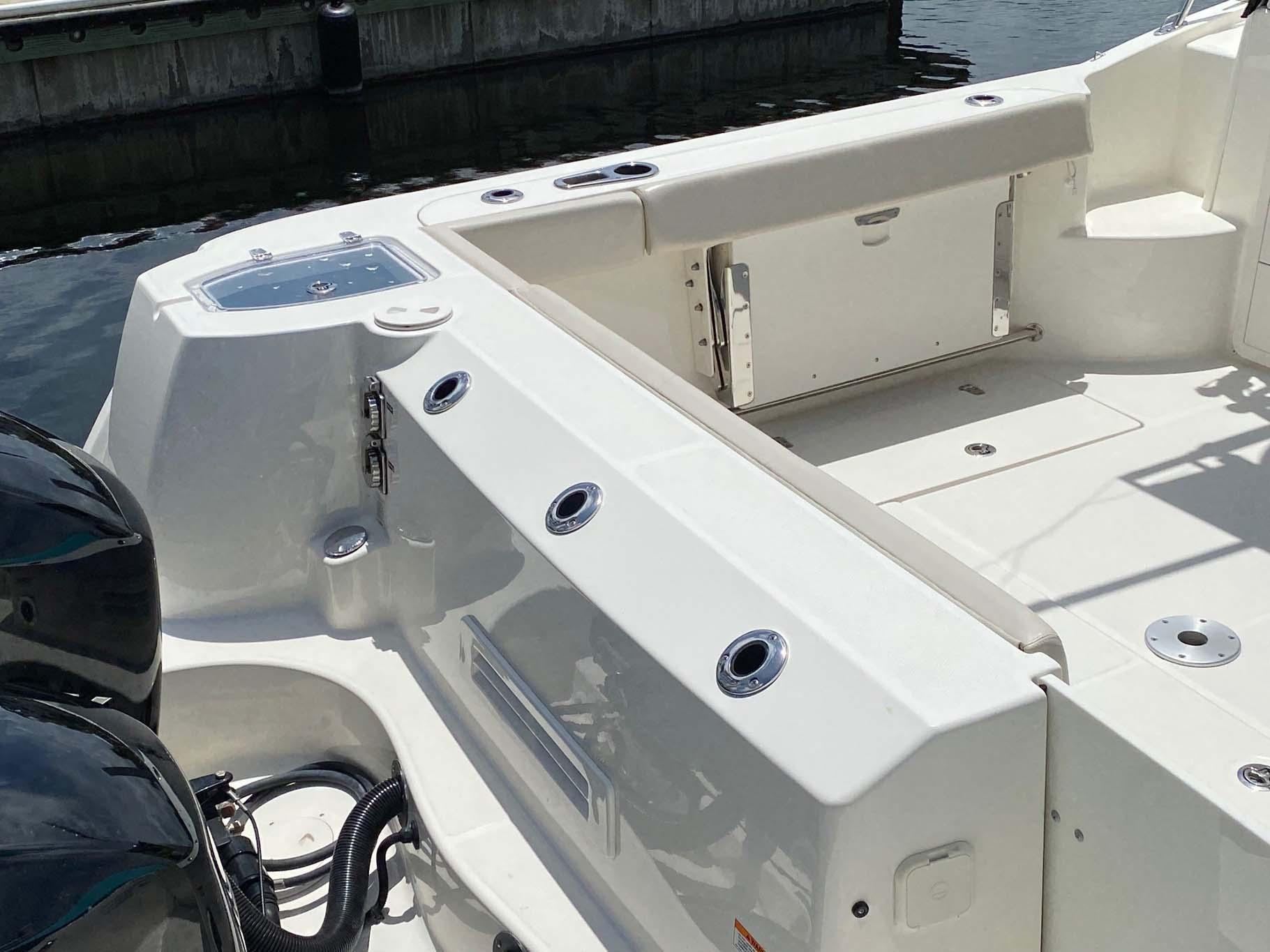 Port Seat Retracted and Transom