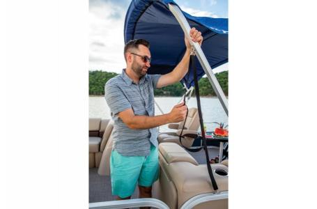 2019 Sun Tracker boat for sale, model of the boat is PARTY BARGE 22 w/ Mercury 115Hp 4S & Image # 19 of 22