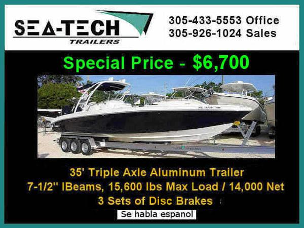 2021 SEA TECH Triple Axle Aluminum Trailer image