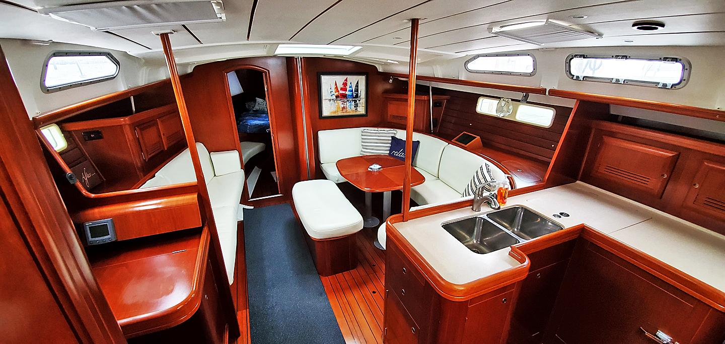 Salon/ Galley from Companionway