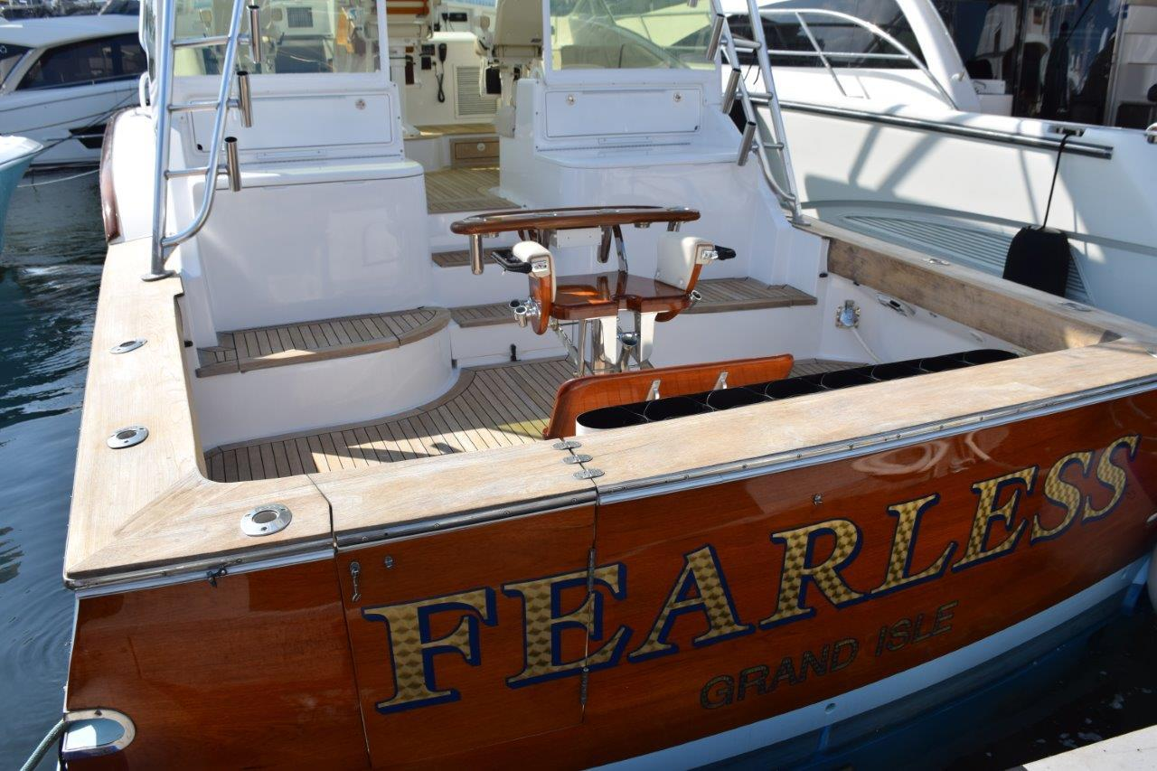 Teak Transom and cockpit