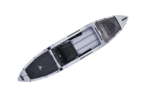 2021 Ascend boat for sale, model of the boat is H12 Hybrid Sit-In - Titanium & Image # 4 of 6