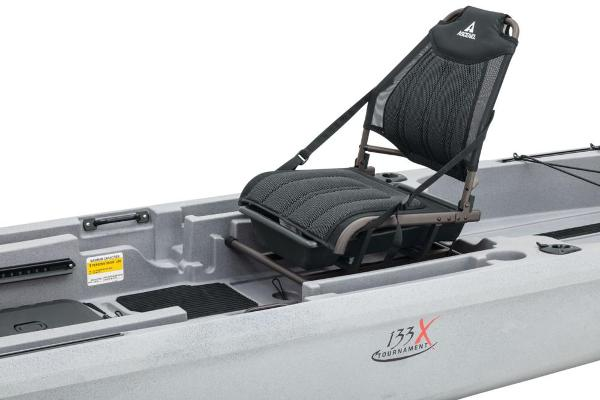 2021 Ascend boat for sale, model of the boat is 133X Yak-Power Sit-On - Titanium & Image # 11 of 18