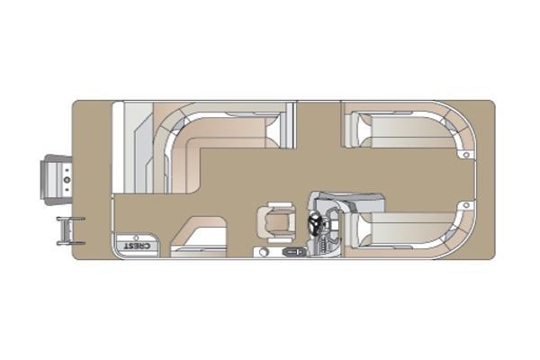 2022 CREST PONTOON BOATS CLA220DLX