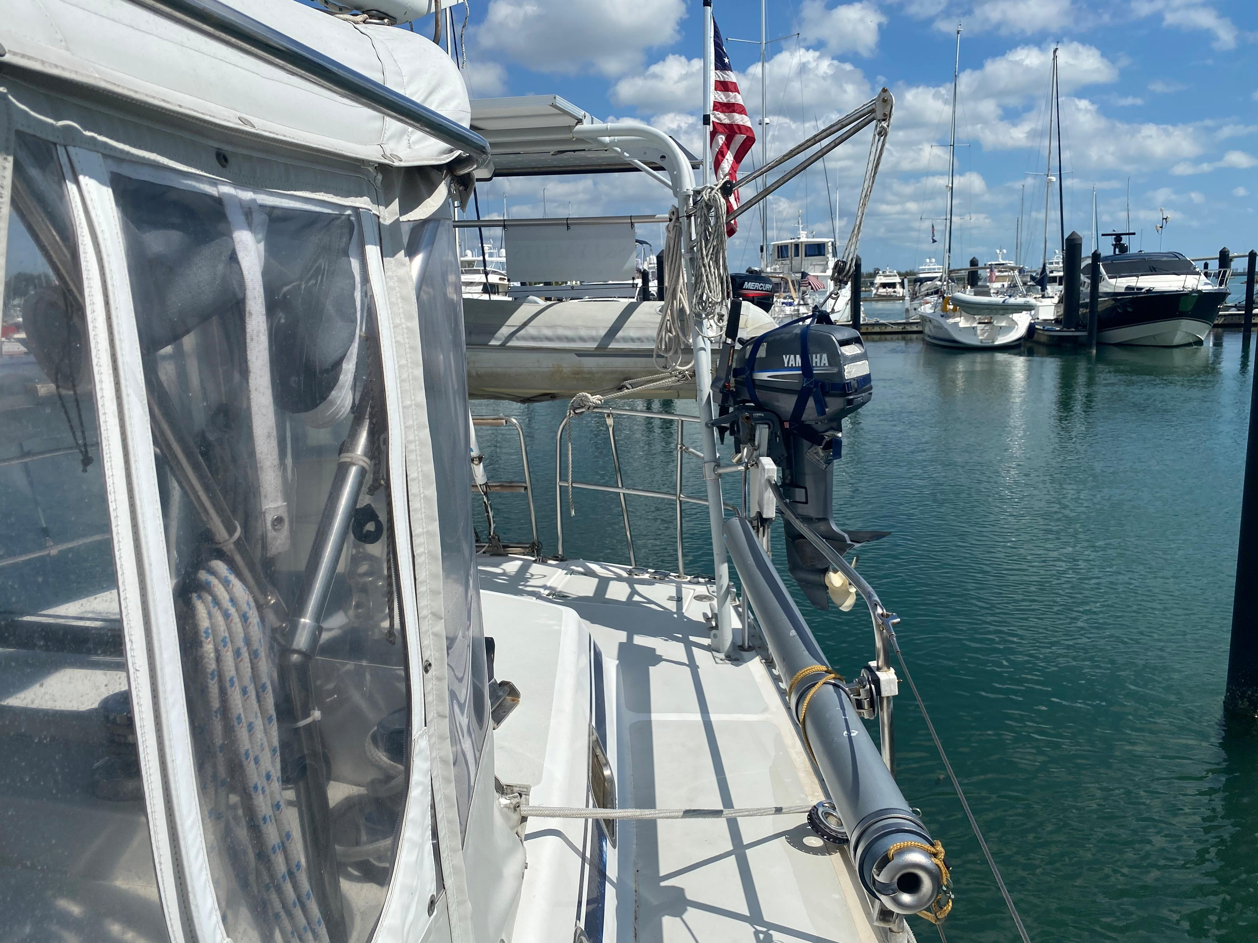 Removable Bowsprit Hanging on Stanchions