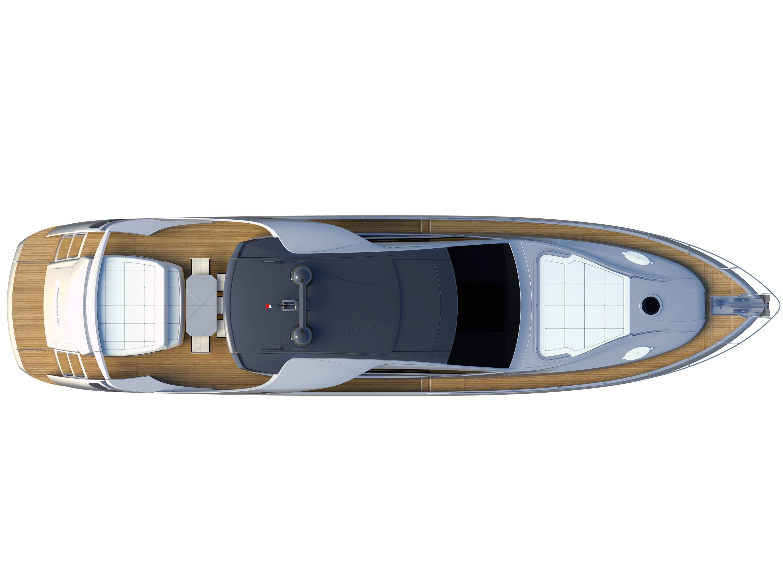 Manufacturer Provided Image: Pershing 70 Deck Layout Plan