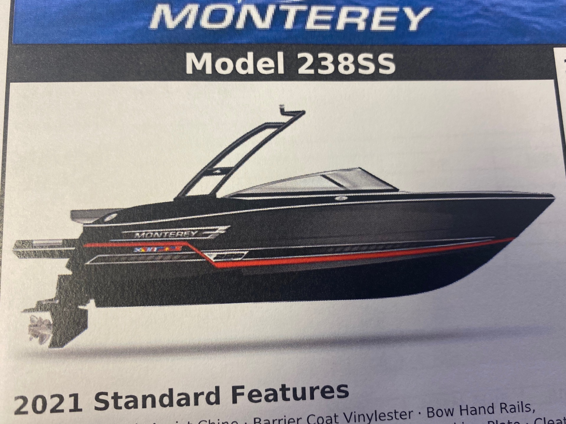 2021 MONTEREY 238SS (On order, secure your boat today!)