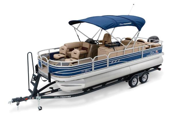 2021 Sun Tracker boat for sale, model of the boat is Fishin' Barge 22 DLX & Image # 8 of 17