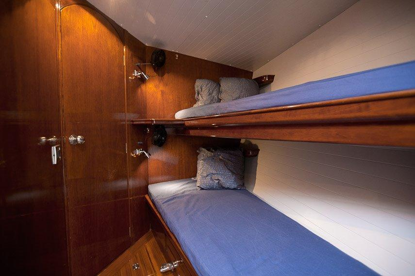 Over and Under Cabin with direct head access