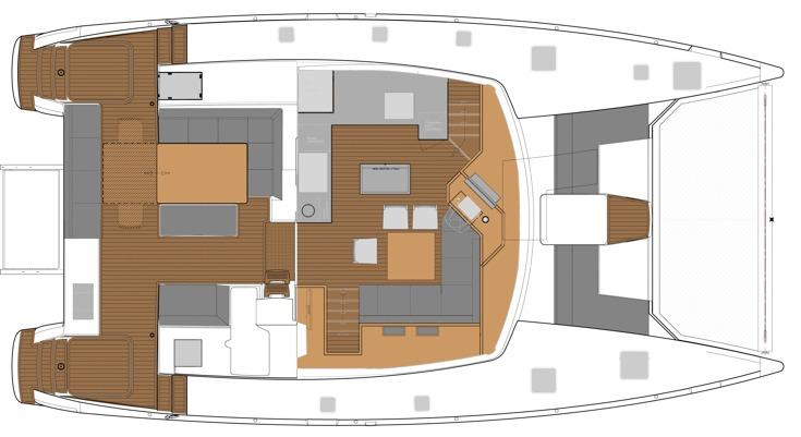 Manufacturer Provided Image: Fountaine Pajot SABA 50 Deck Layout Plan