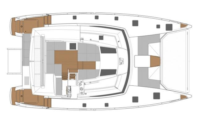 Manufacturer Provided Image: Fountaine Pajot SABA 50 Flybridge Layout Plan