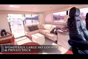 Lazzara Yachts Sky Lounge video