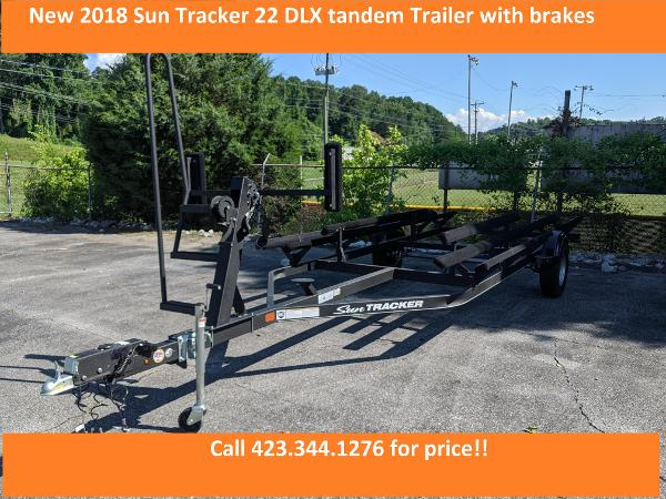 2018 SUN TRACKER 22 DLX TANDEM TRAILER for sale