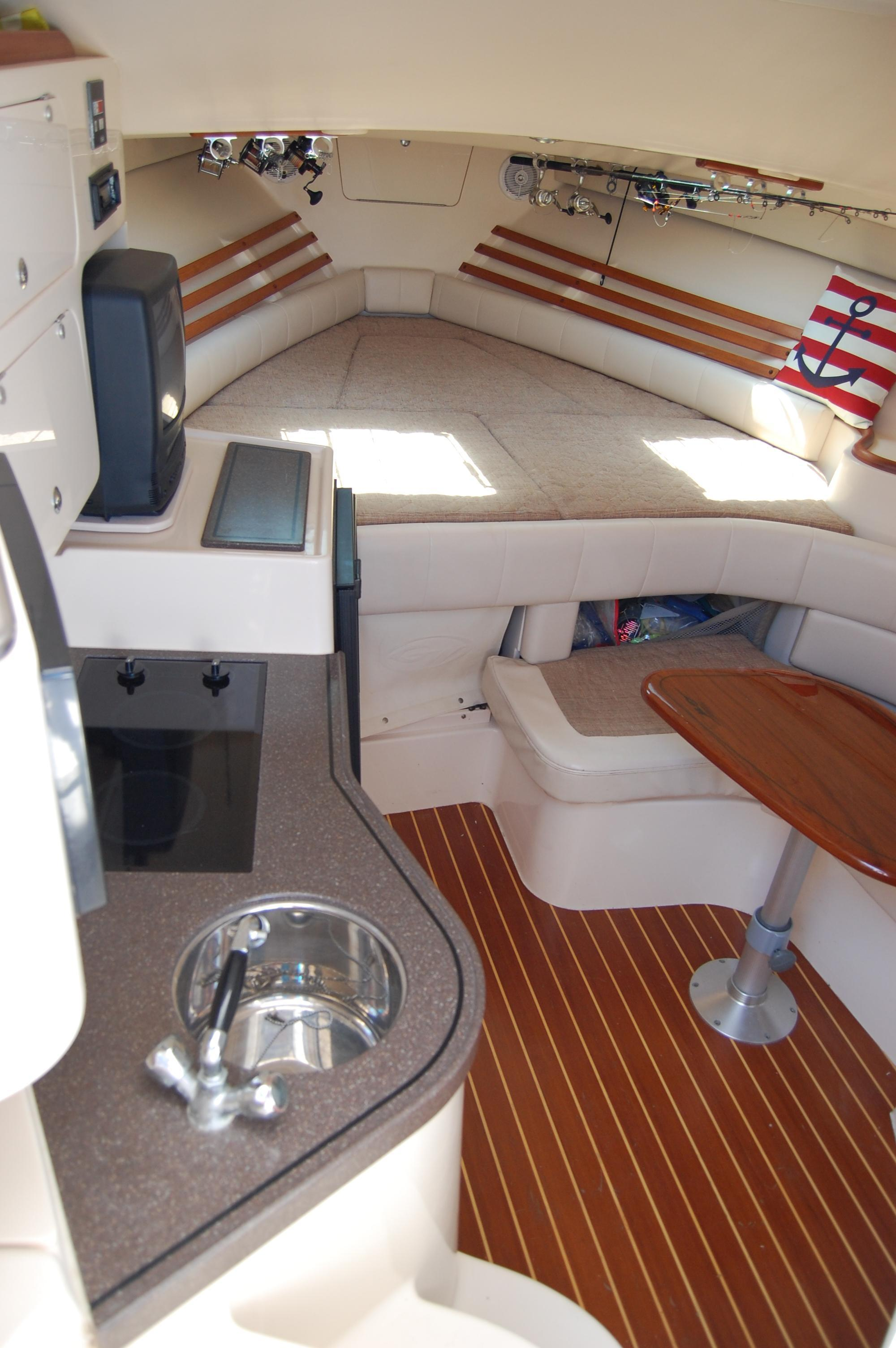 2002 Grady White 330 Express,  looking into the lower cabin