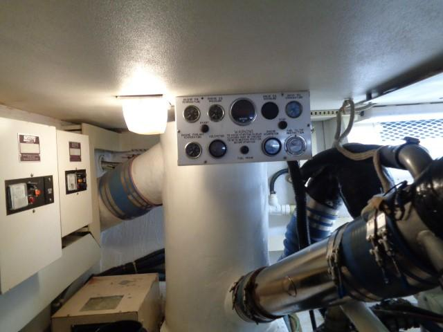 Viking 54 Motor Yacht - Engine Room Gauges