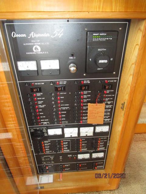 54' Ocean Alexander electrical panel