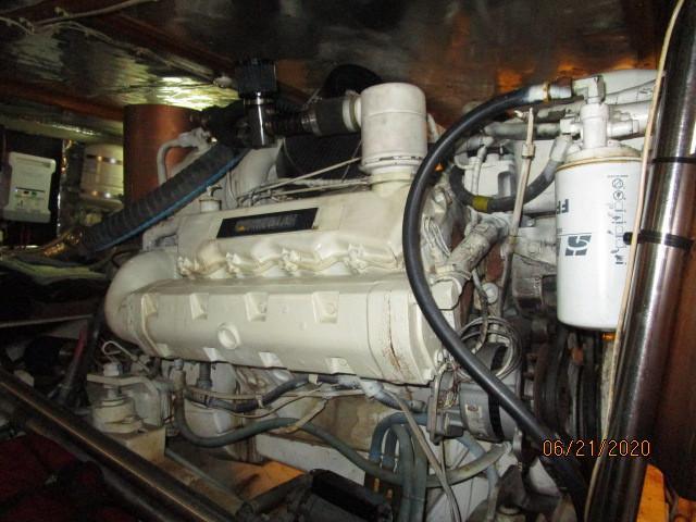 54' Ocean Alexander port main engine