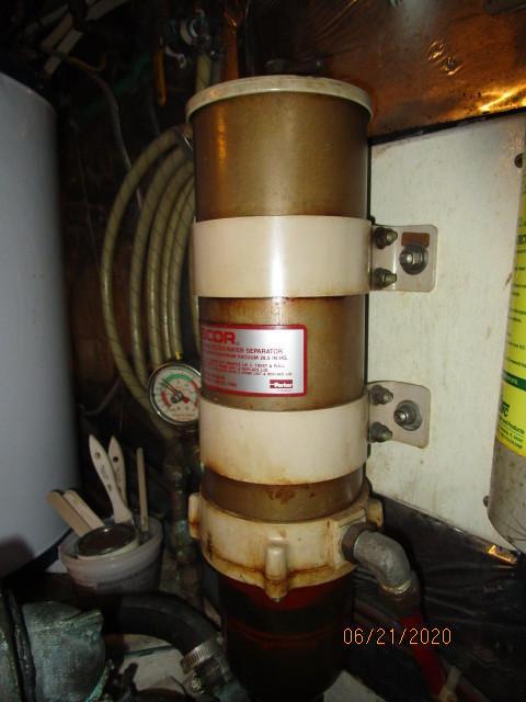 54' Ocean Alexander Racor fuel filter