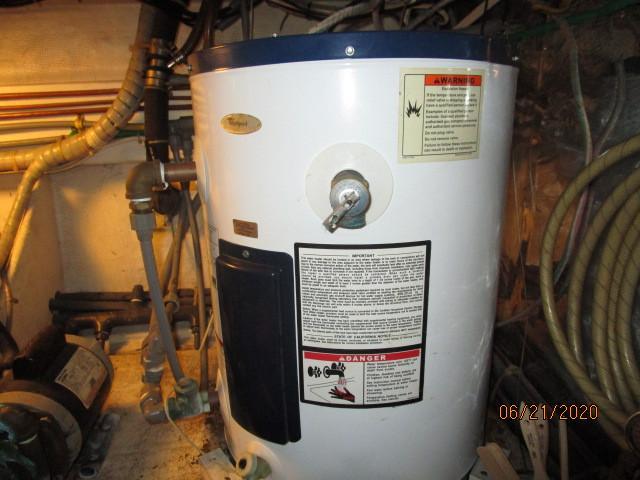 54' Ocean Alexander water heater