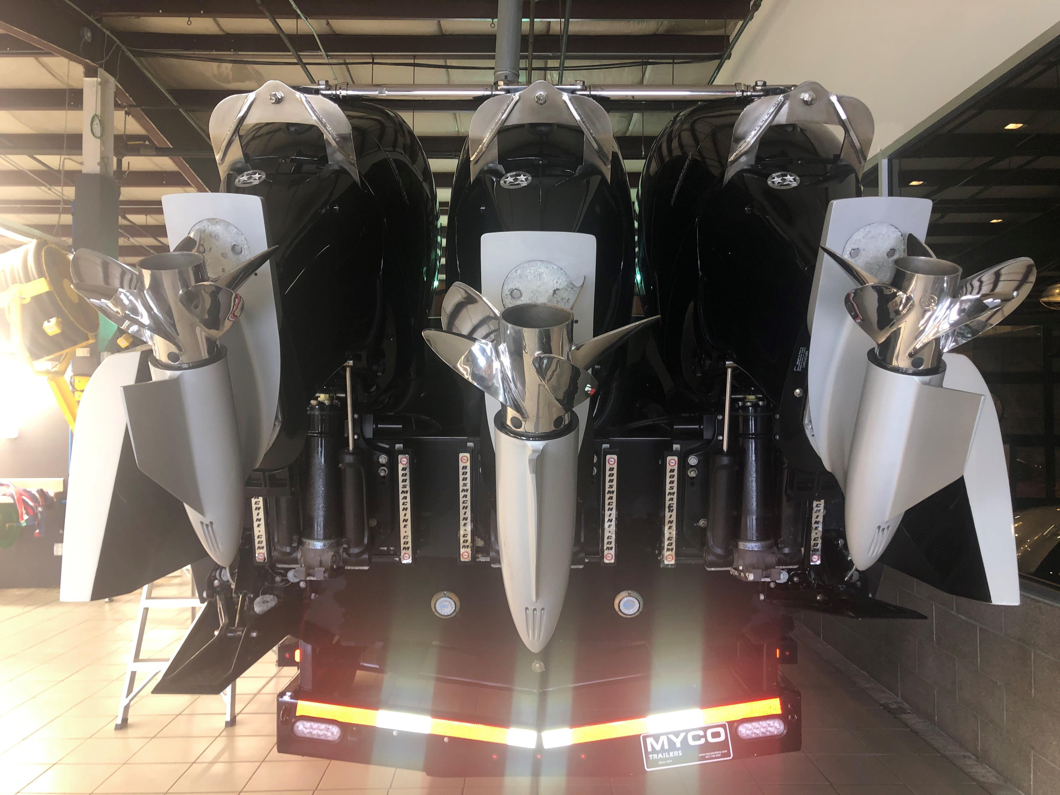 Triple Mercury 400R Outboards