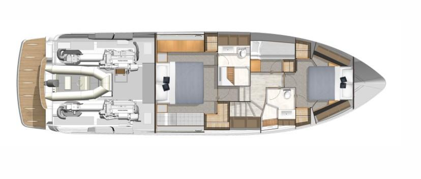 2021 Riviera 5400 Sport Yacht #R092 inventory image at Sun Country Coastal in Newport Beach