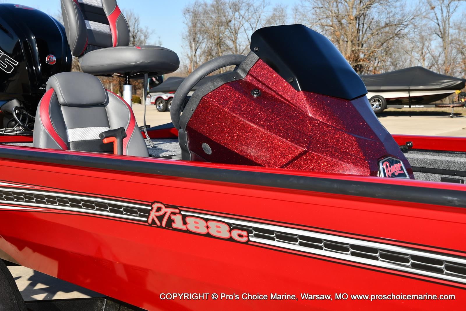 2021 Ranger Boats boat for sale, model of the boat is RT188C w/115HP Mercury Pro-XS Command Thrust & Image # 24 of 50