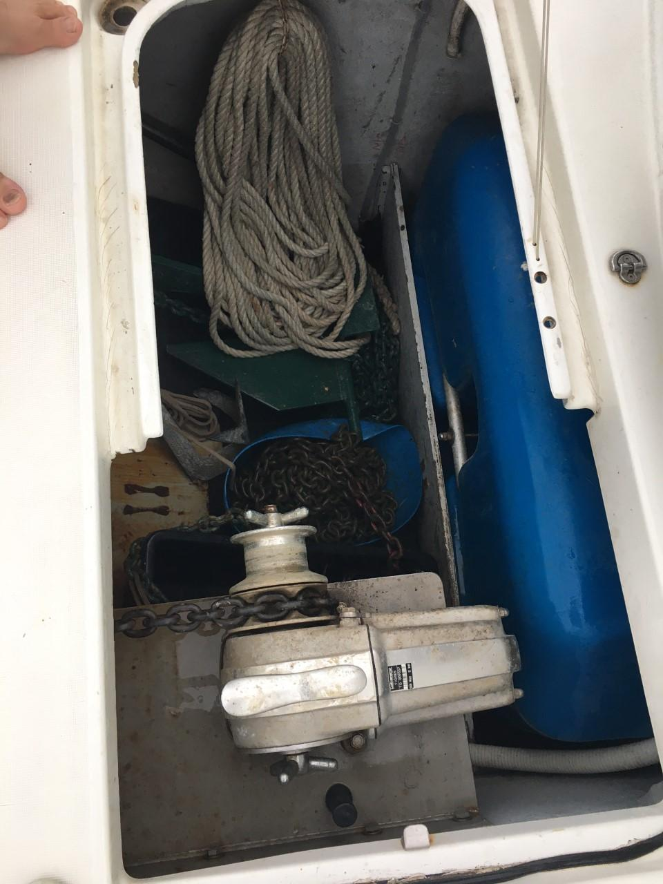 Electric Windlass and Anchor Locker