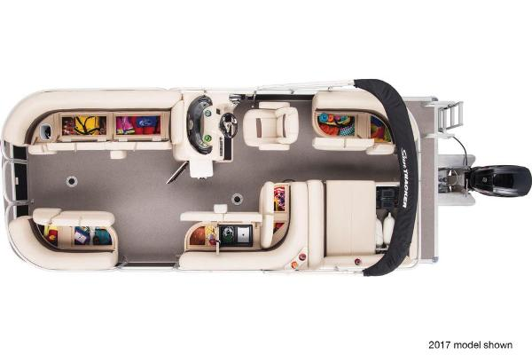 2018 Sun Tracker boat for sale, model of the boat is Party Barge 22 DLX & Image # 6 of 7