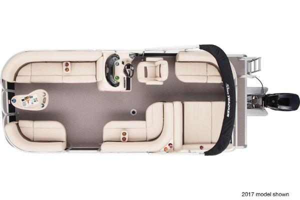 2018 Sun Tracker boat for sale, model of the boat is Party Barge 22 DLX & Image # 7 of 7