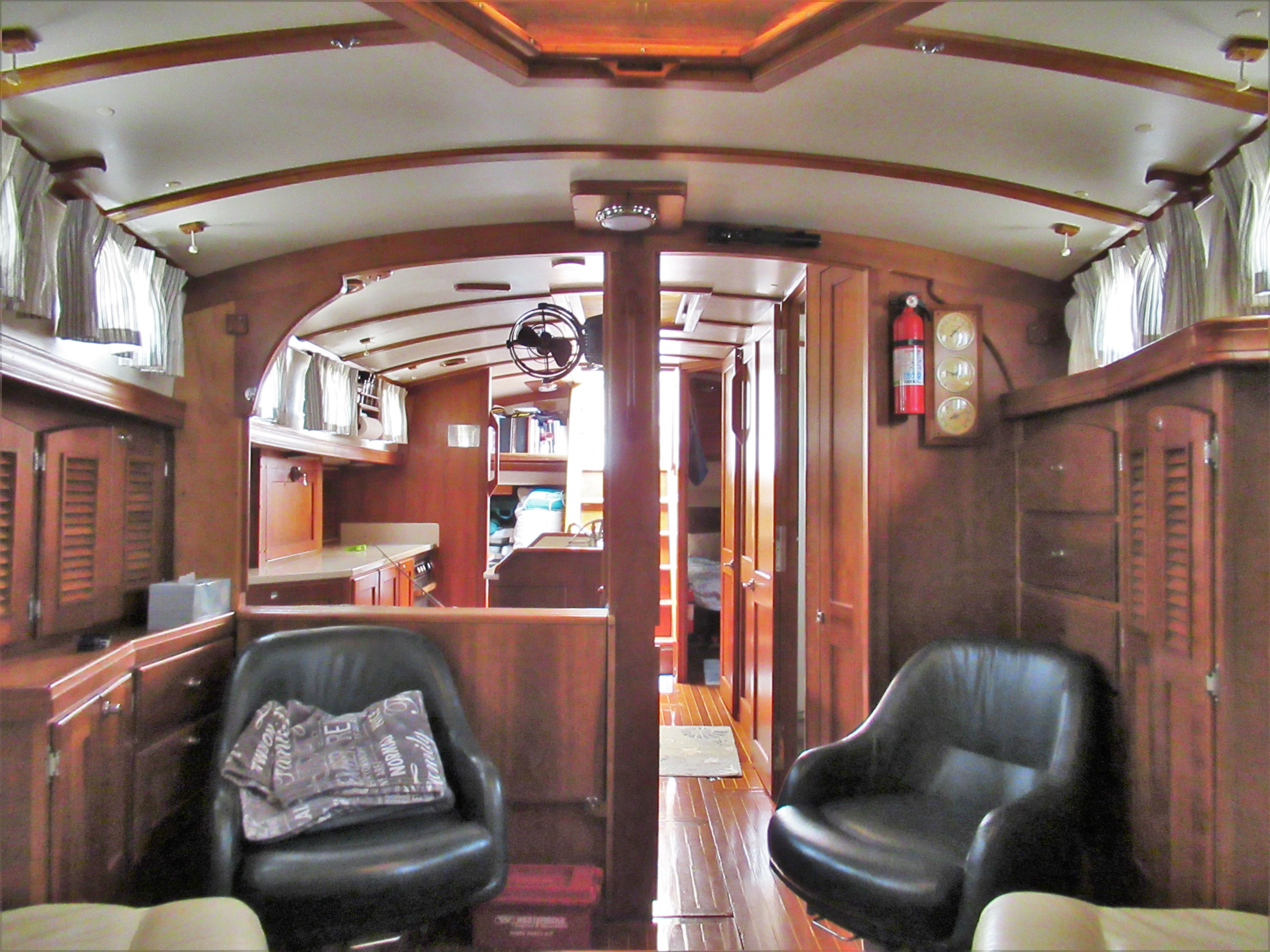 Looking Aft from Saloon