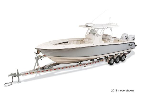 2019 Mako boat for sale, model of the boat is 334 CC Family Edition & Image # 31 of 33