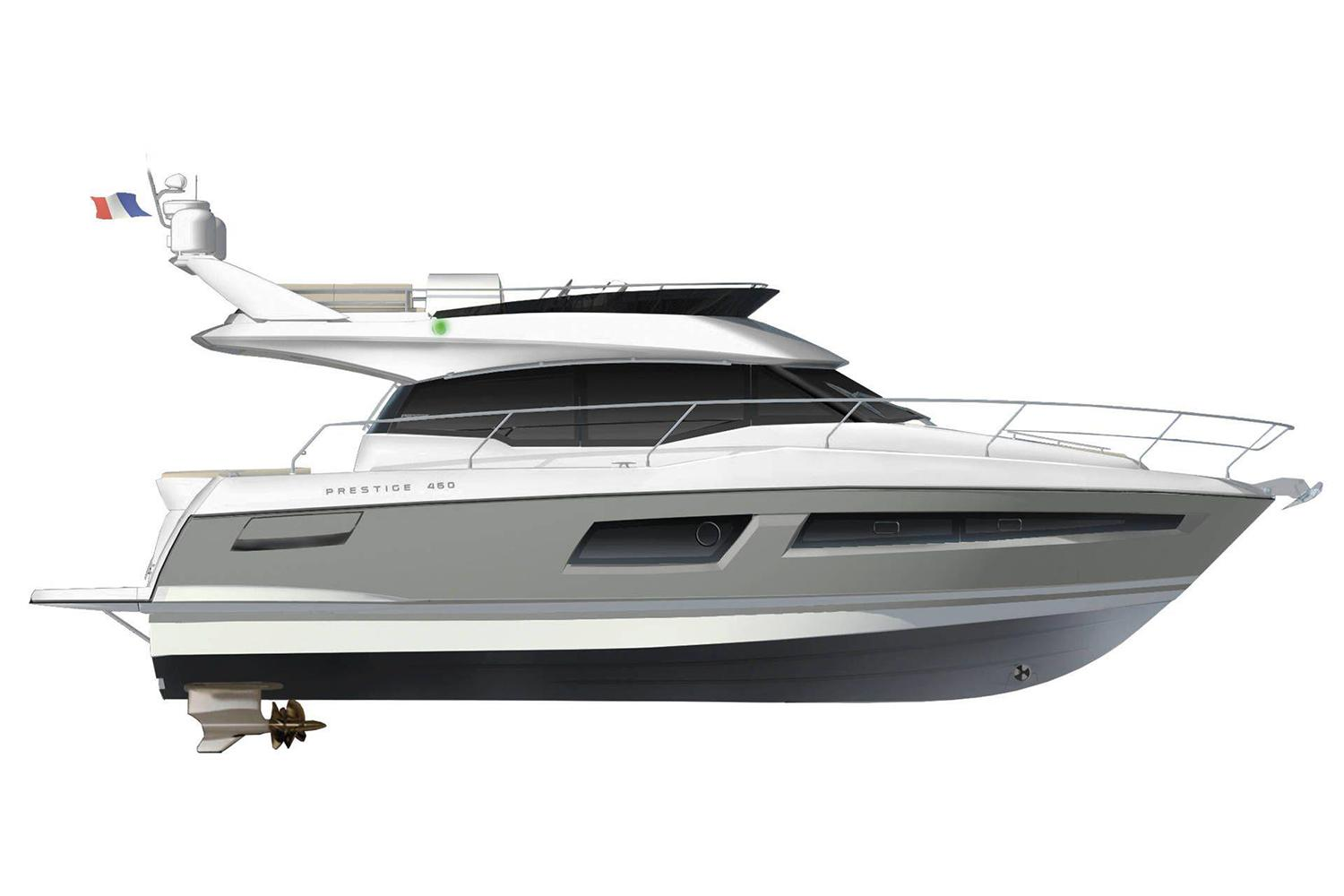 2021 Prestige 460 Fly #75560 inventory image at Sun Country Yachts in Newport Beach