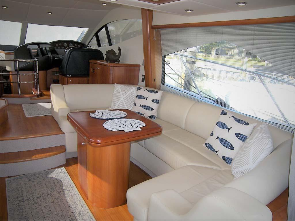 Salon to Starboard from Aft