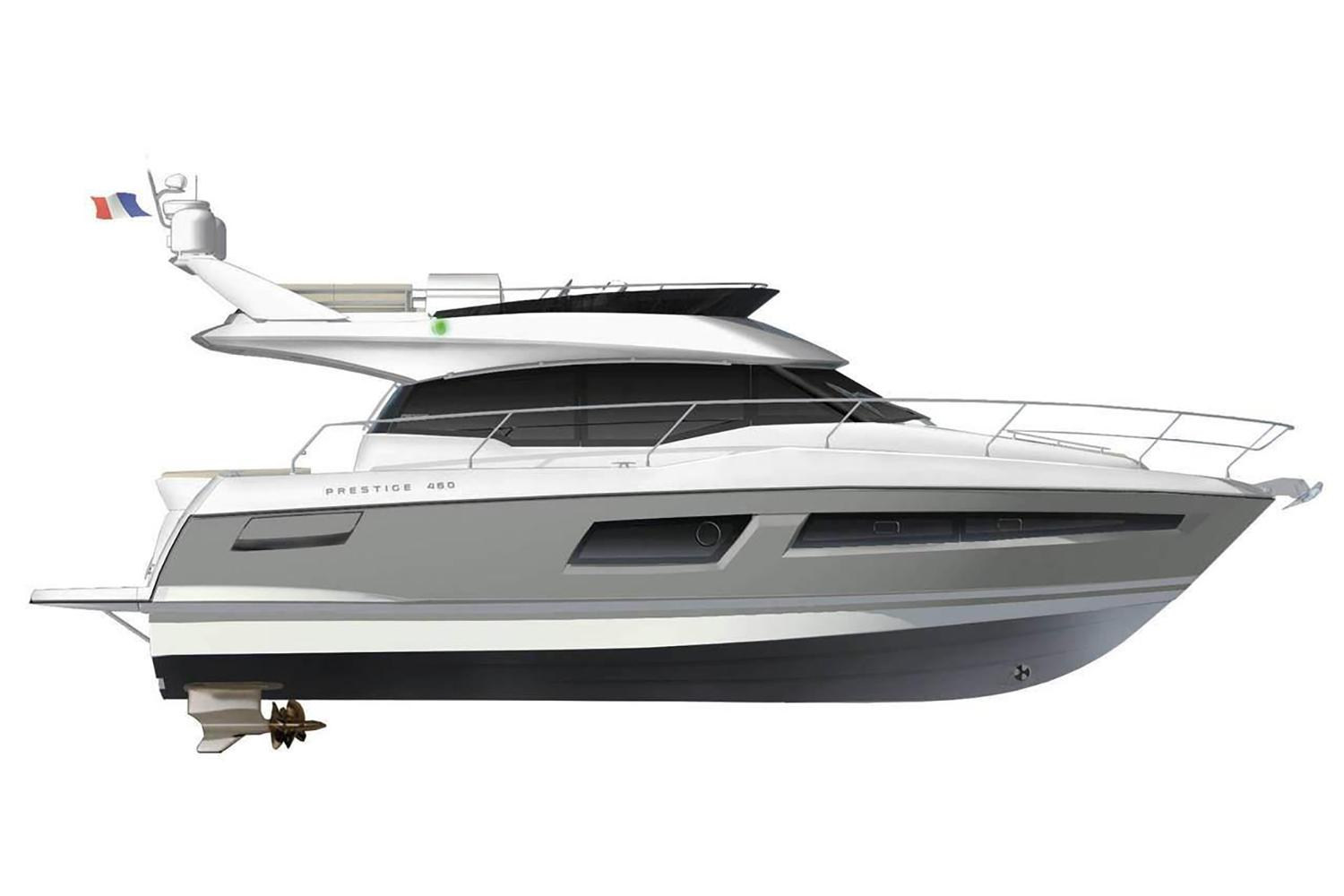 2021 Prestige 460 Fly #75565 inventory image at Sun Country Coastal in San Diego