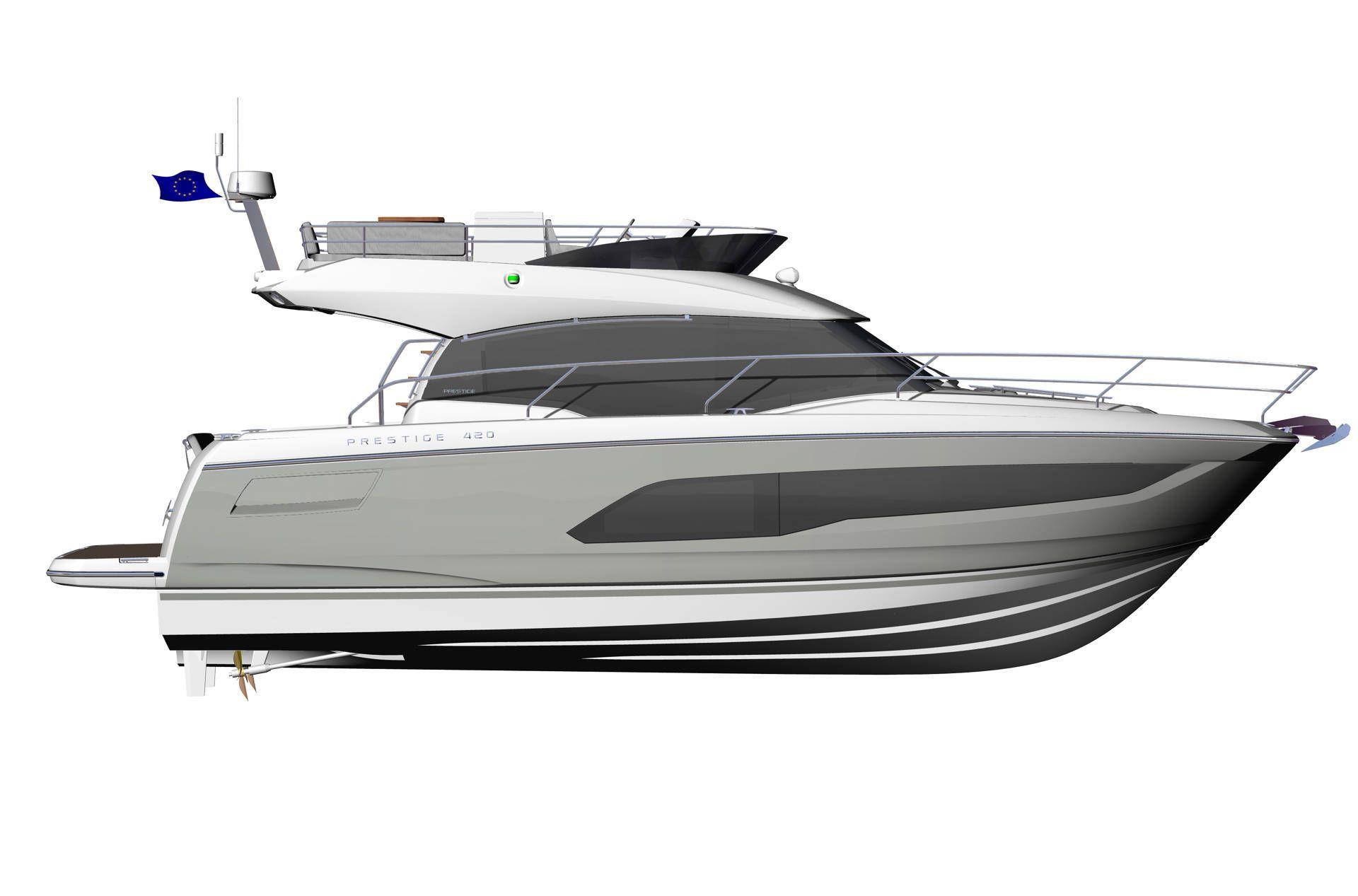 2021 Prestige 420 Fly #75562 inventory image at Sun Country Yachts in Newport Beach