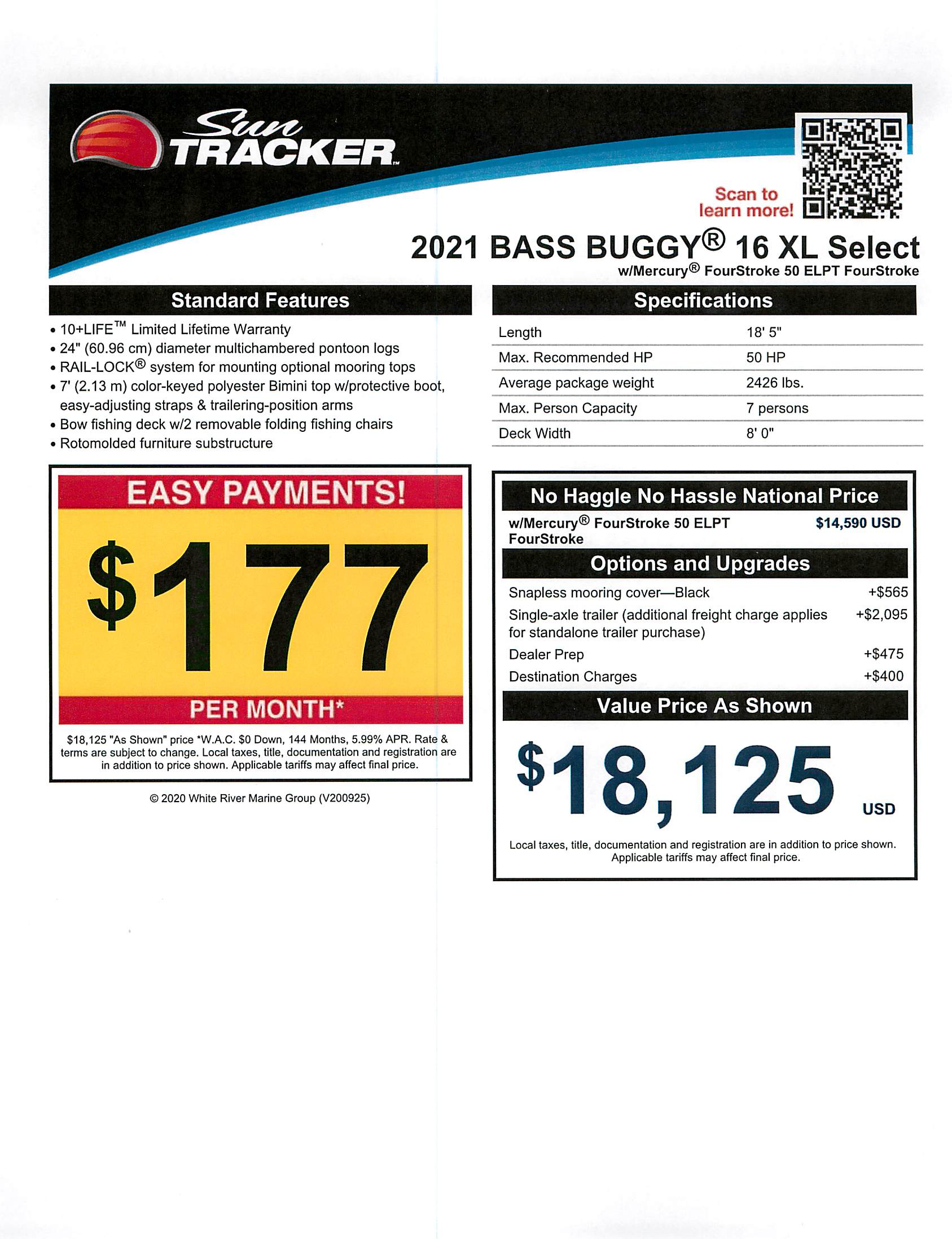 2021 Sun Tracker boat for sale, model of the boat is Bass Buggy 16 XL & Image # 33 of 43