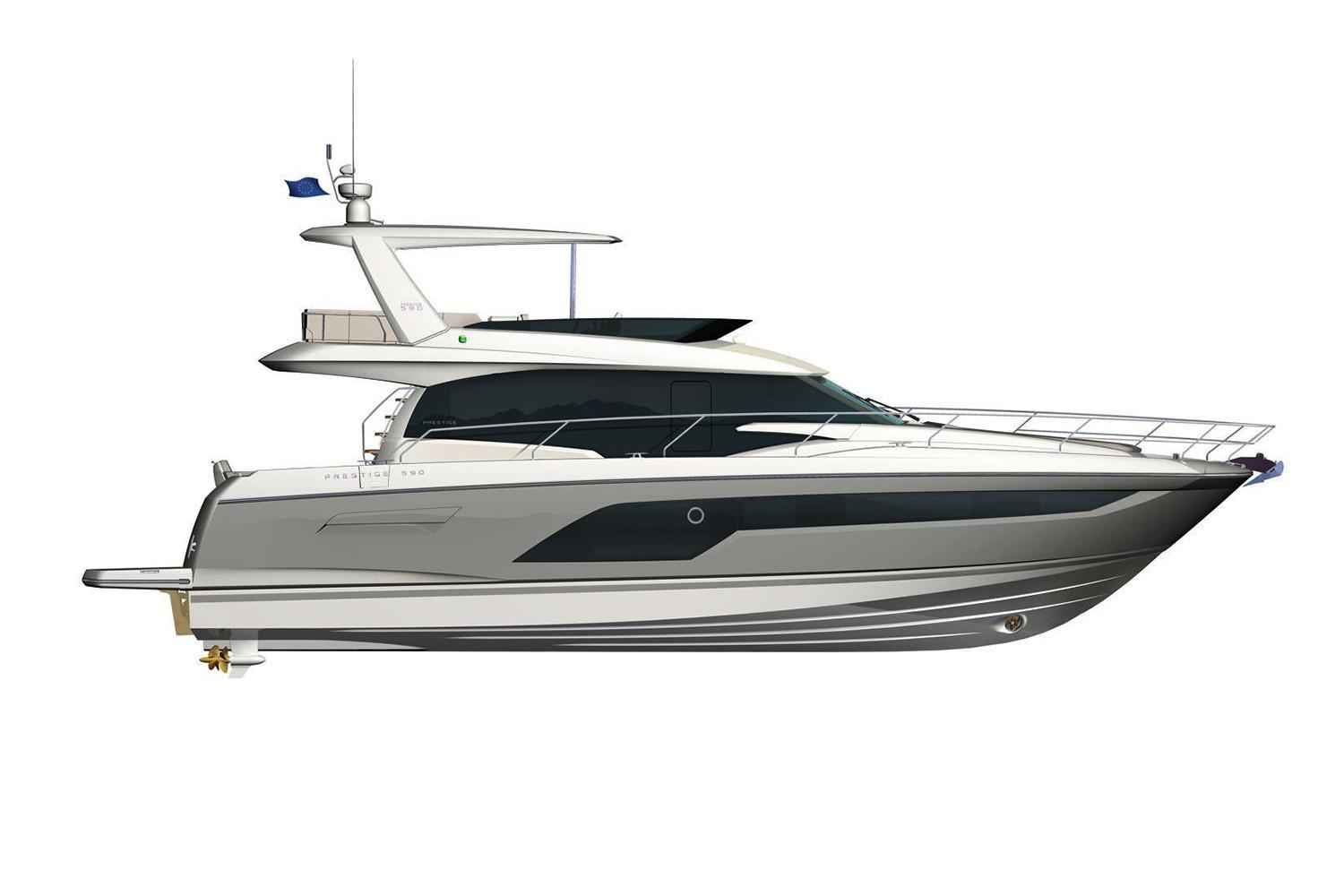 2021 Prestige 590 Fly #75566 inventory image at Sun Country Coastal in Newport Beach