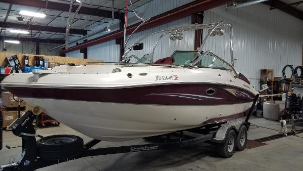 2008 Godfrey Pontoon boat for sale, model of the boat is 2400 Sun Deck & Image # 1 of 7