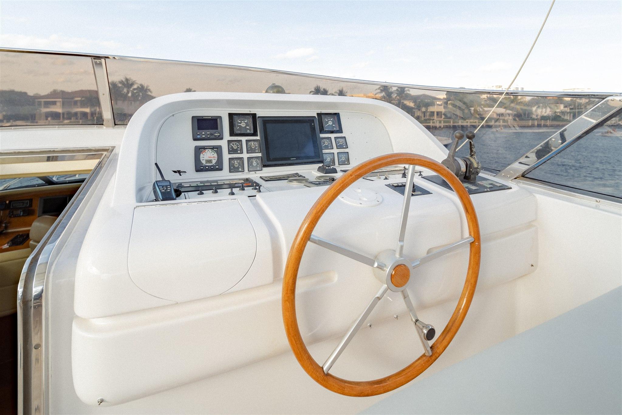 Maiora 96 Motor Yacht Bridge Helm Station