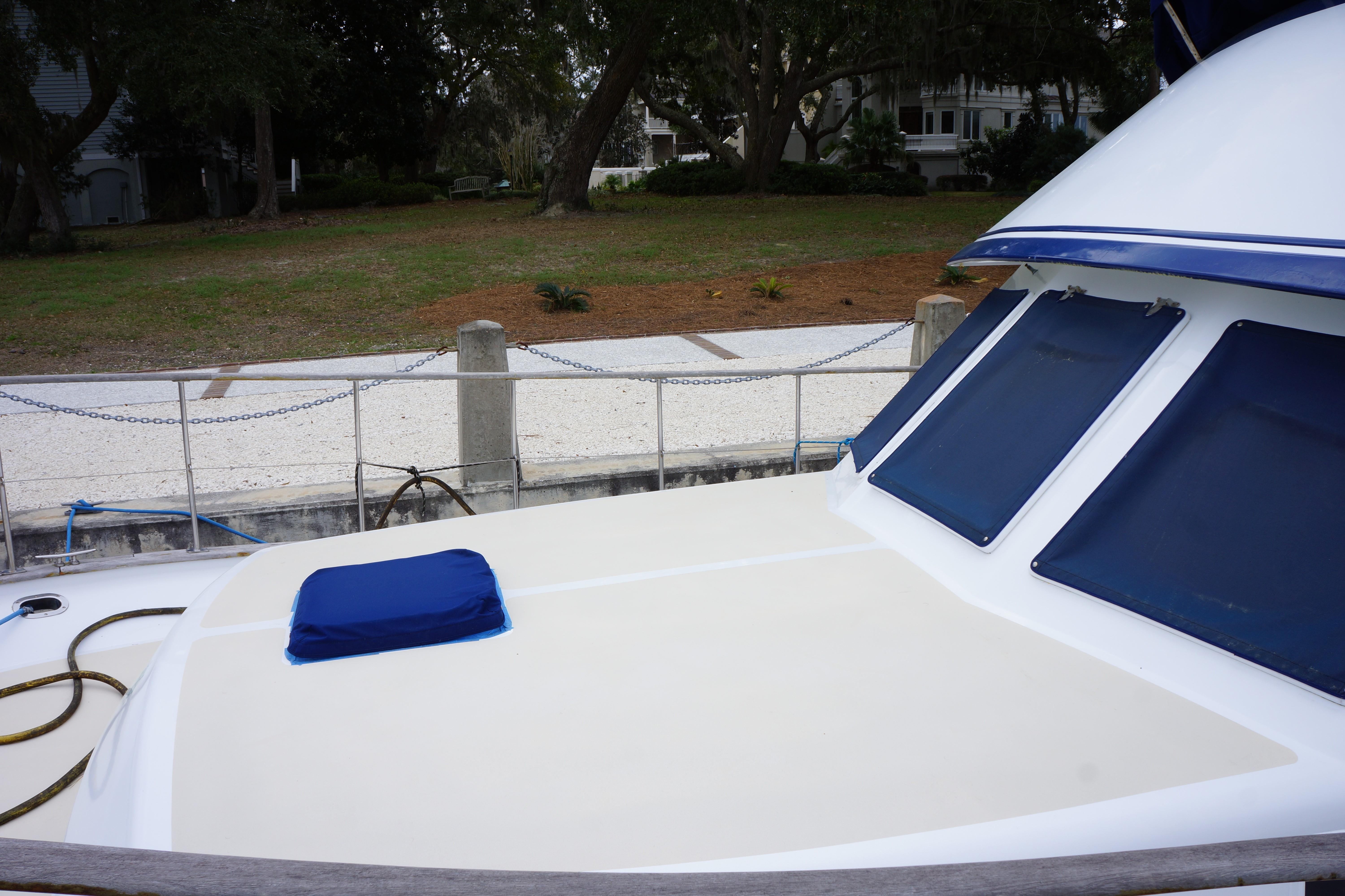 Marine Trader 43 LaBelle Trawler - new non-skid paint