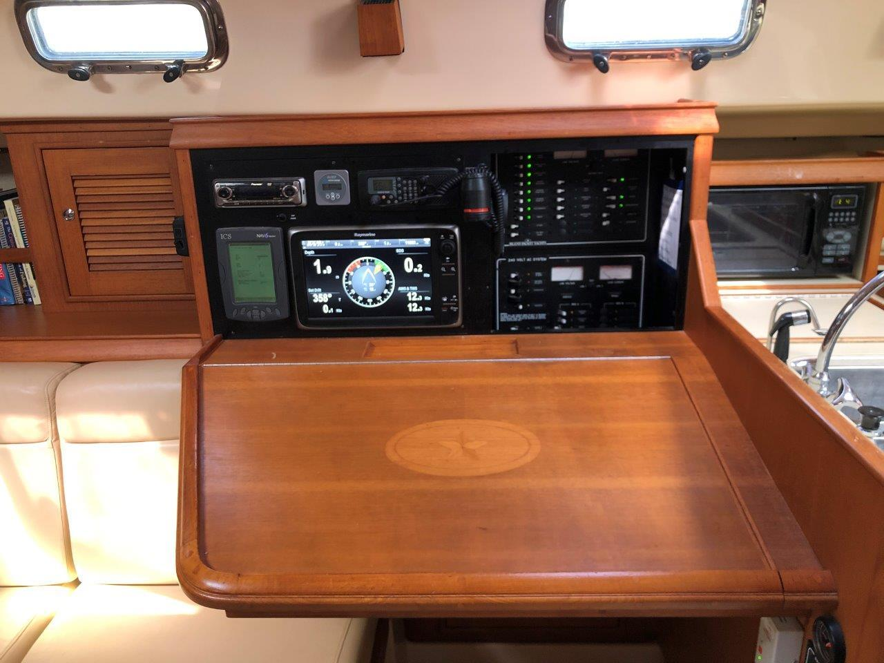 Nav desk and electric panel
