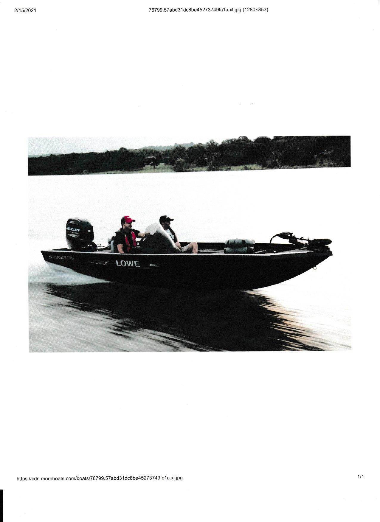 2021 Lowe ST175 Stinger Bass Boat thumbnail